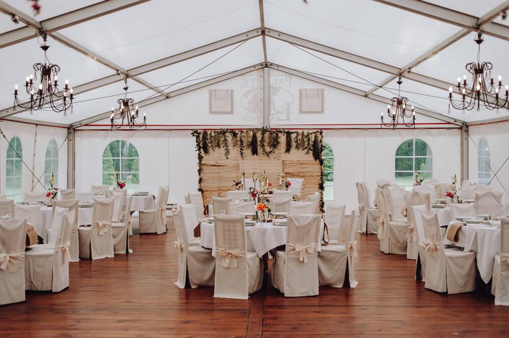 Sala weselna w Pałacu Łąkomin