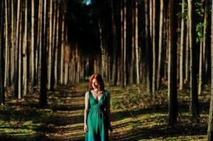sesja zdjęciowa w lesie Zielona Góra