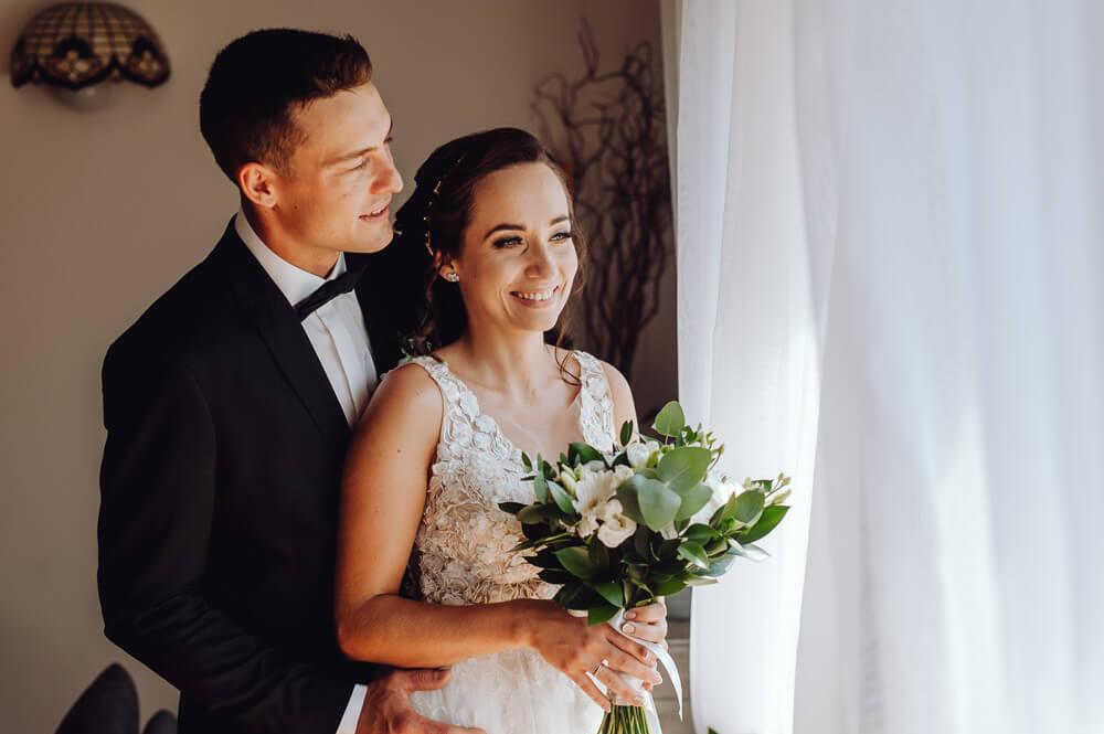 sesja ślubna przed ceremonią